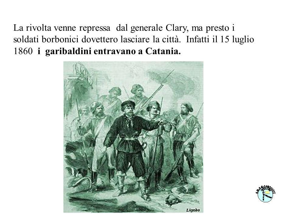 La rivolta venne repressa dal generale Clary, ma presto i soldati borbonici dovettero lasciare la città.