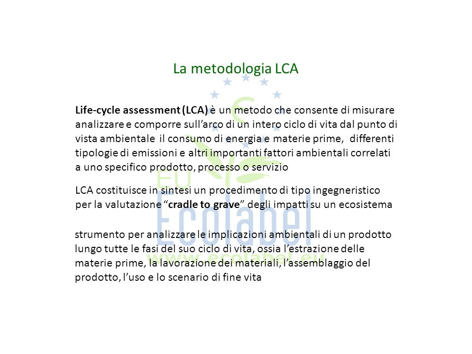 La metodologia LCA