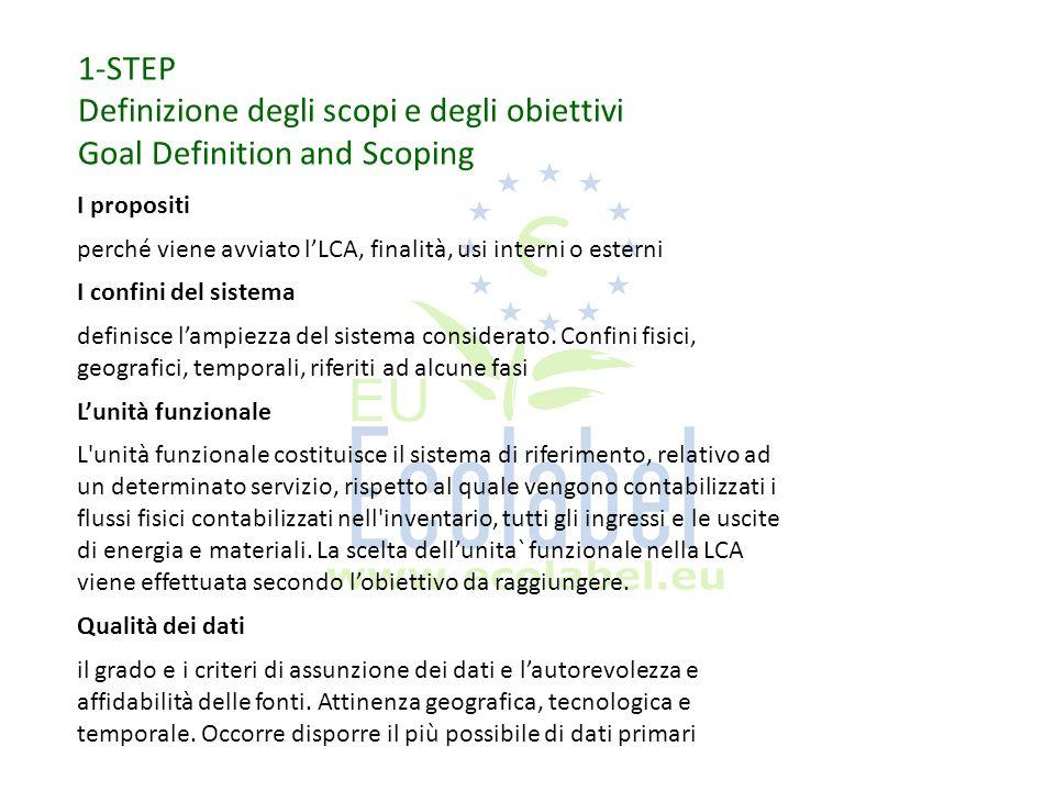 Definizione degli scopi e degli obiettivi Goal Definition and Scoping