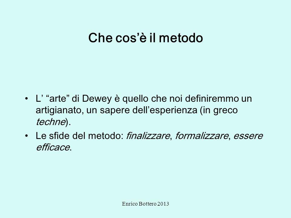 Che cos'è il metodo L' arte di Dewey è quello che noi definiremmo un artigianato, un sapere dell'esperienza (in greco techne).