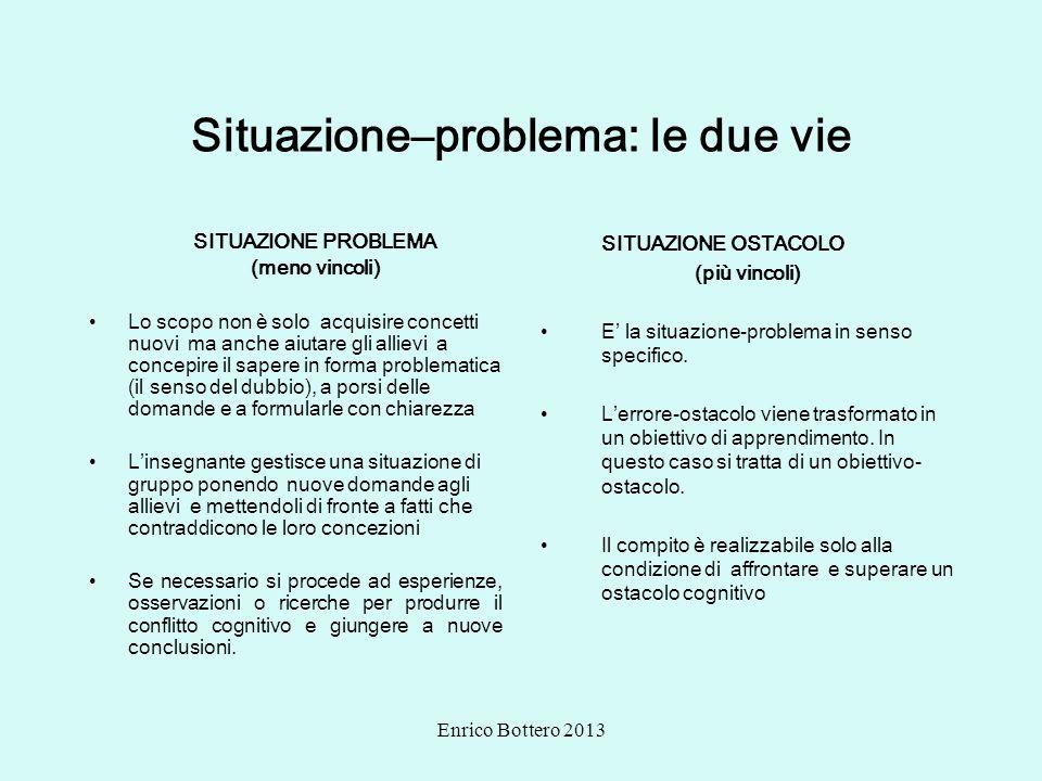 Situazione–problema: le due vie