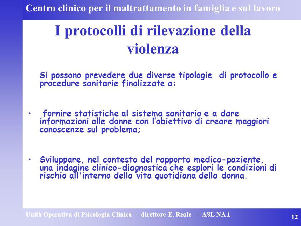 I protocolli di rilevazione della violenza