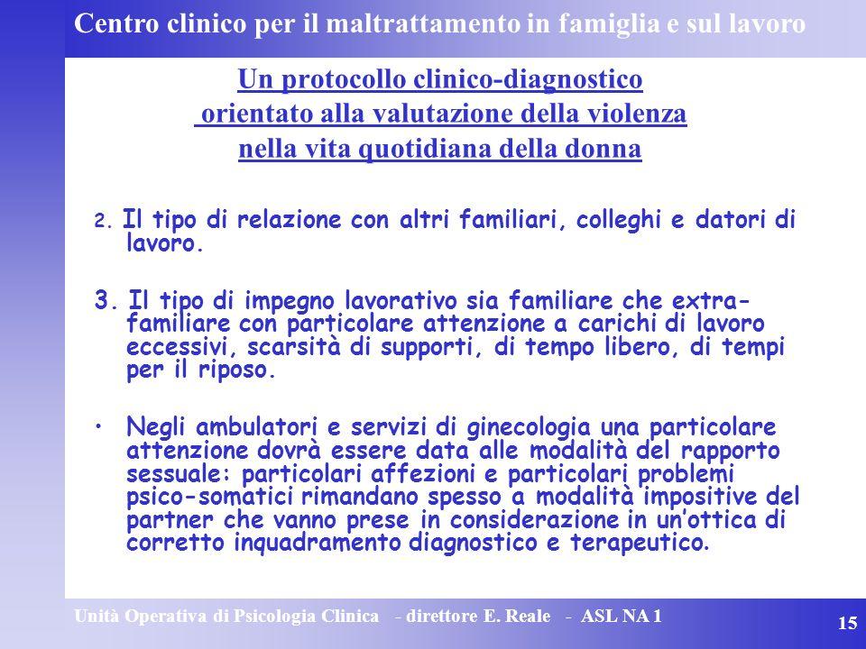 Centro clinico per il maltrattamento in famiglia e sul lavoro