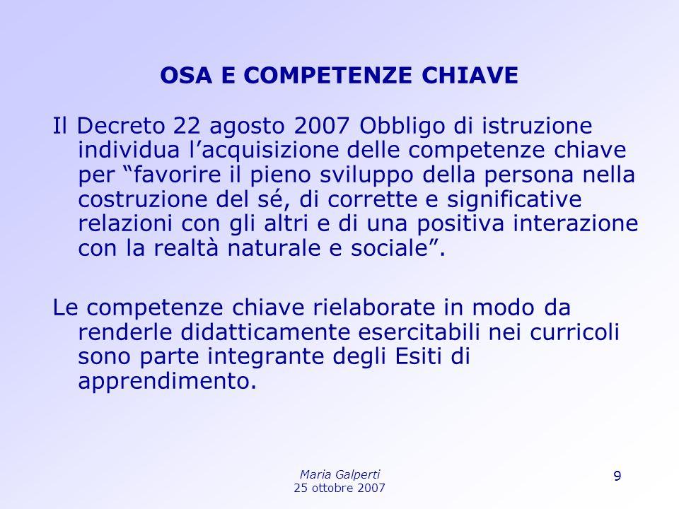 OSA E COMPETENZE CHIAVE