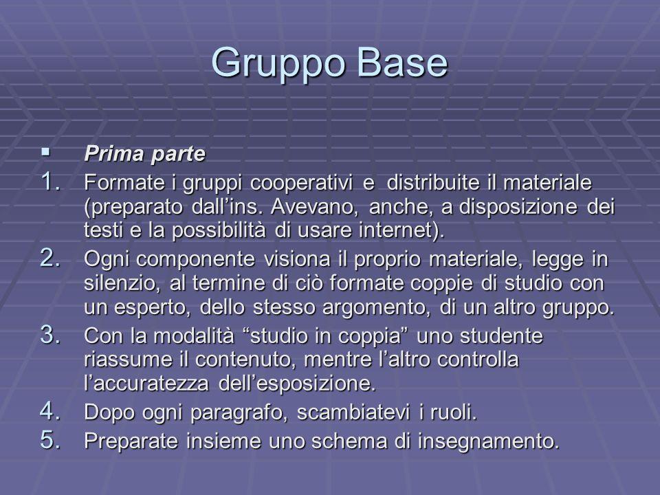 Gruppo Base Prima parte