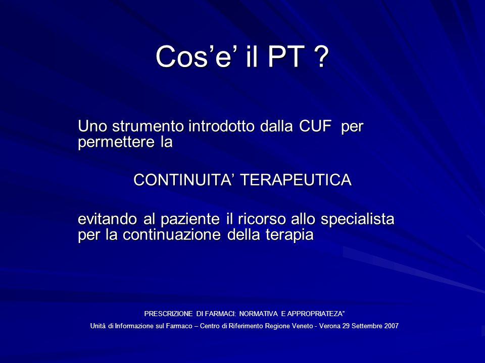 Cos'e' il PT Uno strumento introdotto dalla CUF per permettere la