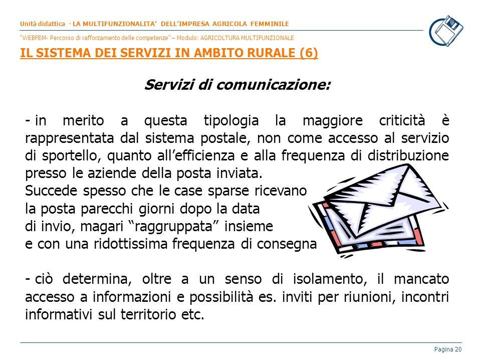 Servizi di comunicazione: