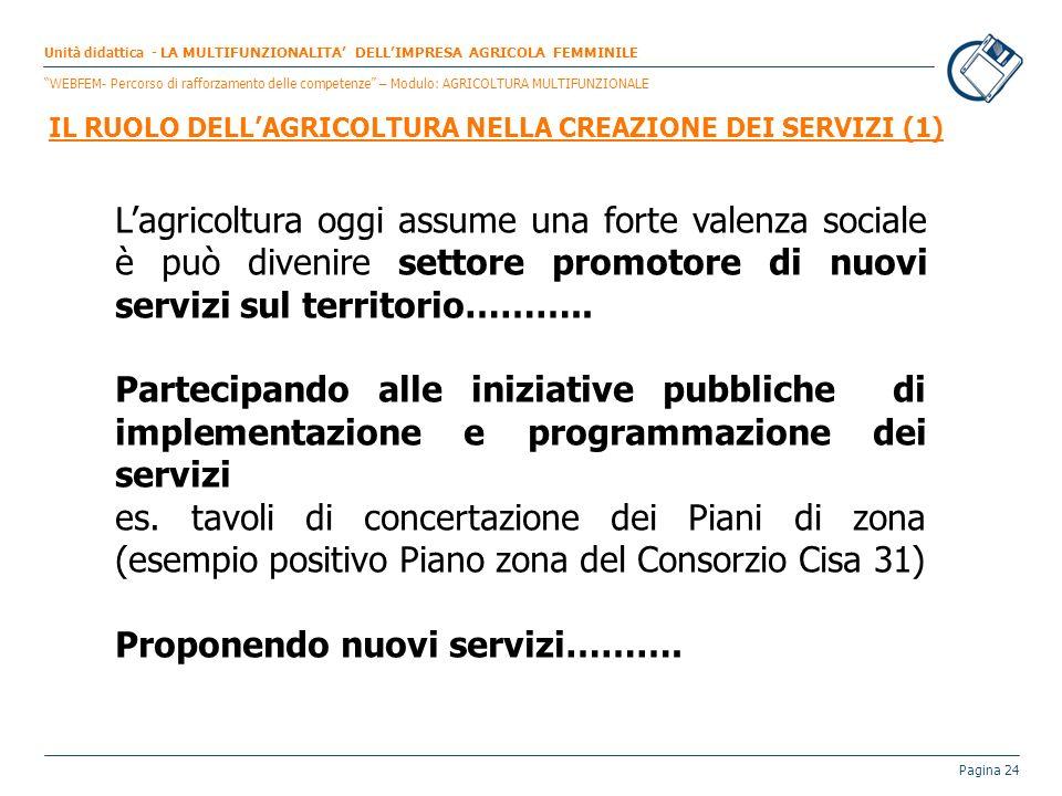 IL RUOLO DELL'AGRICOLTURA NELLA CREAZIONE DEI SERVIZI (1)