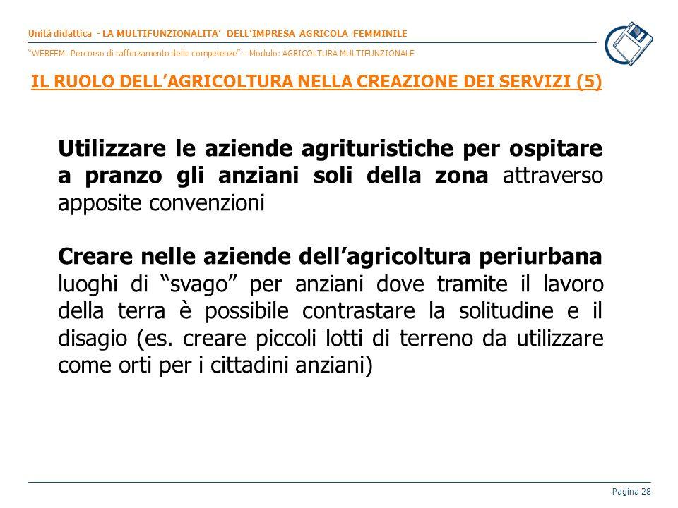 IL RUOLO DELL'AGRICOLTURA NELLA CREAZIONE DEI SERVIZI (5)