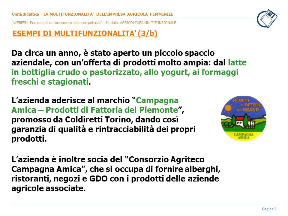 Unità didattica - LA MULTIFUNZIONALITA' DELL'IMPRESA AGRICOLA FEMMINILE