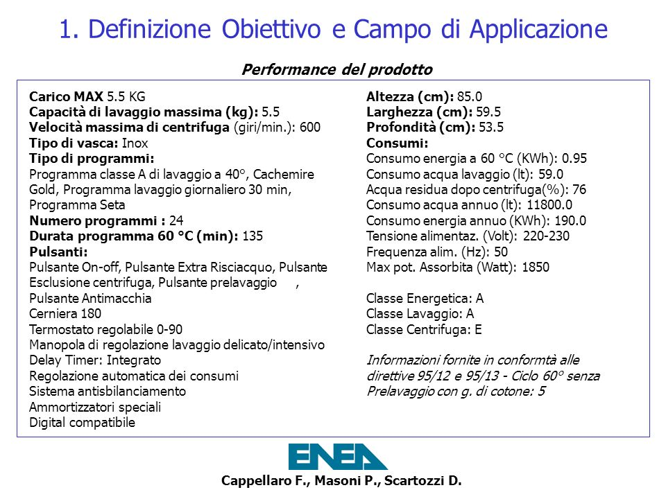 1. Definizione Obiettivo e Campo di Applicazione