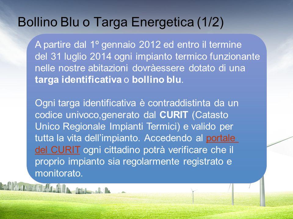 Bollino Blu o Targa Energetica (1/2)