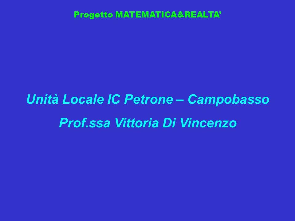 Unità Locale IC Petrone – Campobasso Prof.ssa Vittoria Di Vincenzo