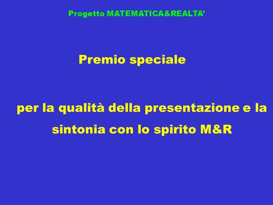 per la qualità della presentazione e la sintonia con lo spirito M&R