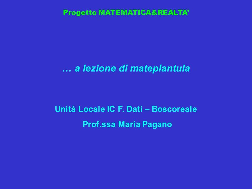 … a lezione di mateplantula Unità Locale IC F. Dati – Boscoreale