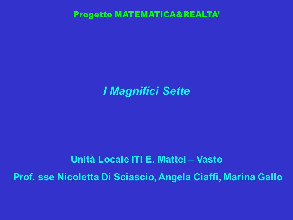 I Magnifici Sette Unità Locale ITI E. Mattei – Vasto