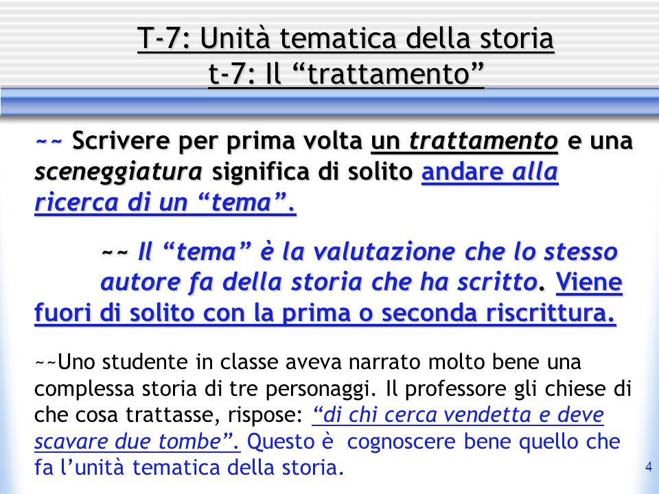 T-7: Unità tematica della storia t-7: Il trattamento
