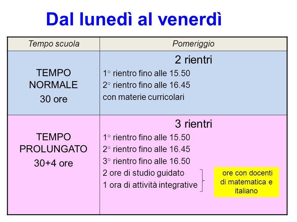 ore con docenti di matematica e italiano