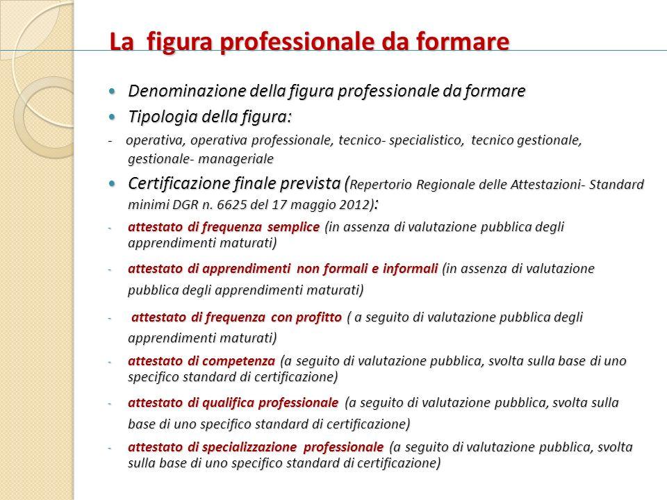 La figura professionale da formare