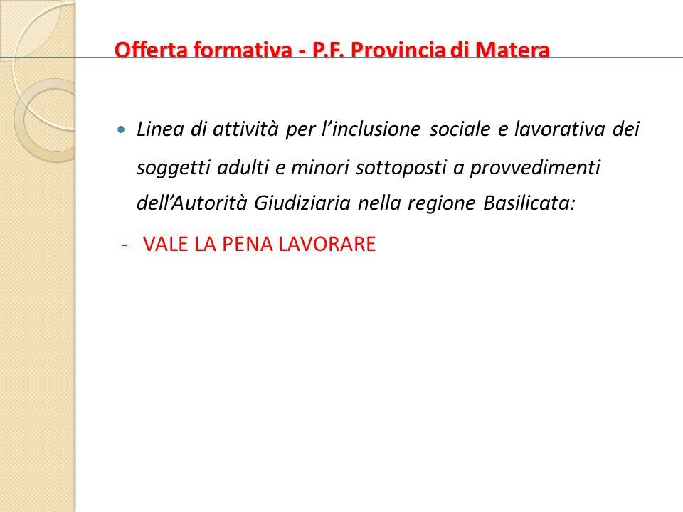 Offerta formativa - P.F. Provincia di Matera