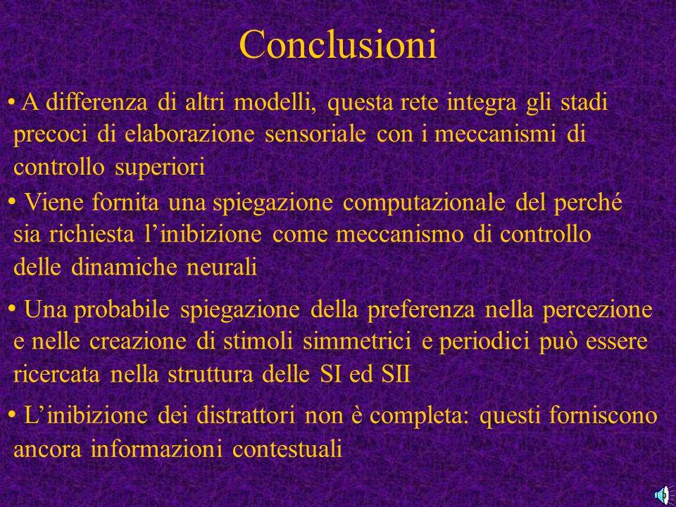 Conclusioni Viene fornita una spiegazione computazionale del perché