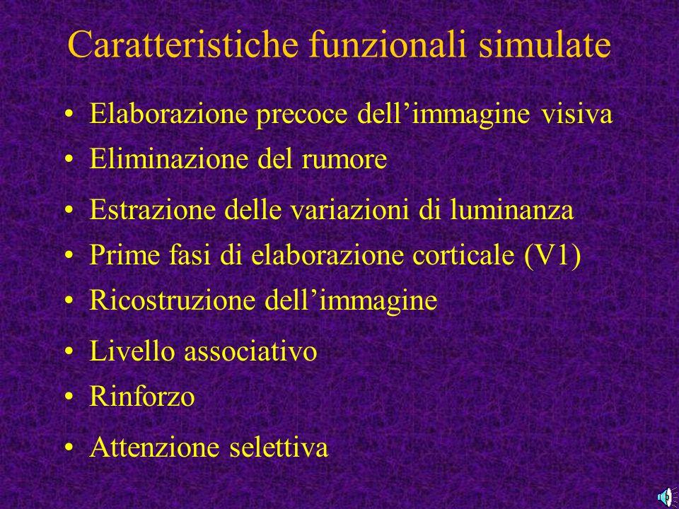 Caratteristiche funzionali simulate