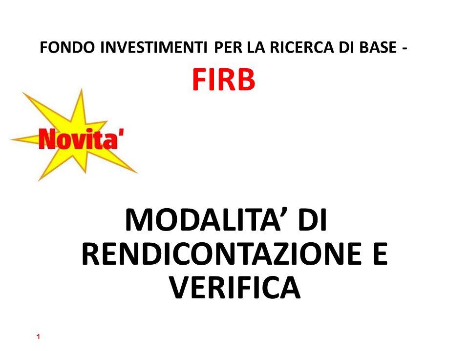 FONDO INVESTIMENTI PER LA RICERCA DI BASE - FIRB