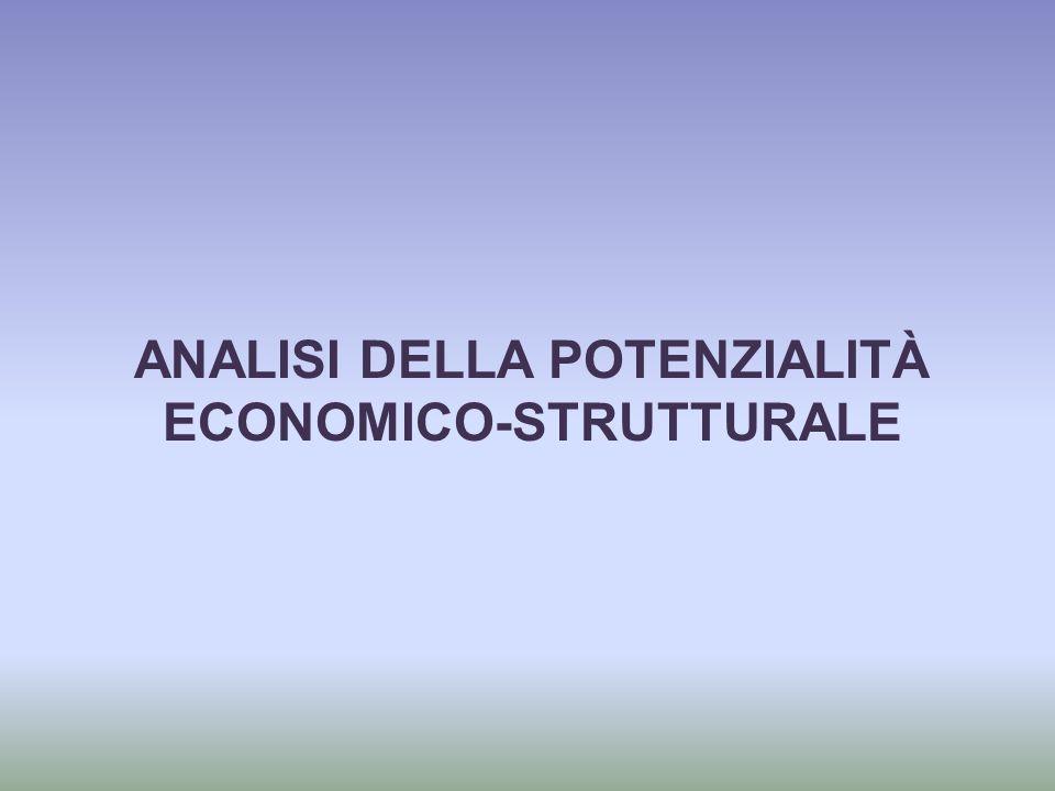ANALISI DELLA POTENZIALITÀ ECONOMICO-STRUTTURALE