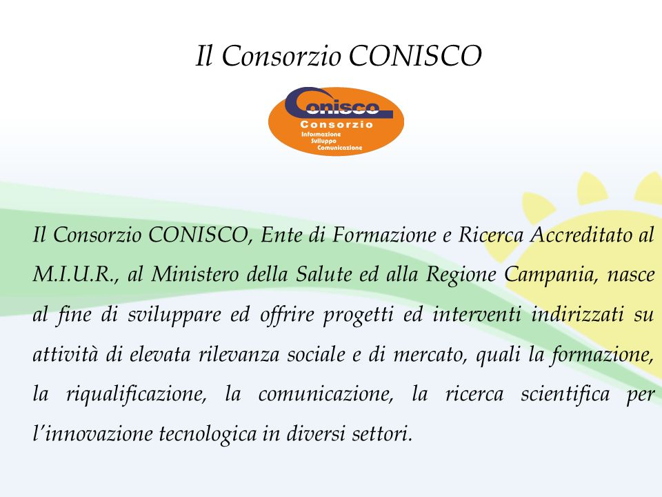 Il Consorzio CONISCO