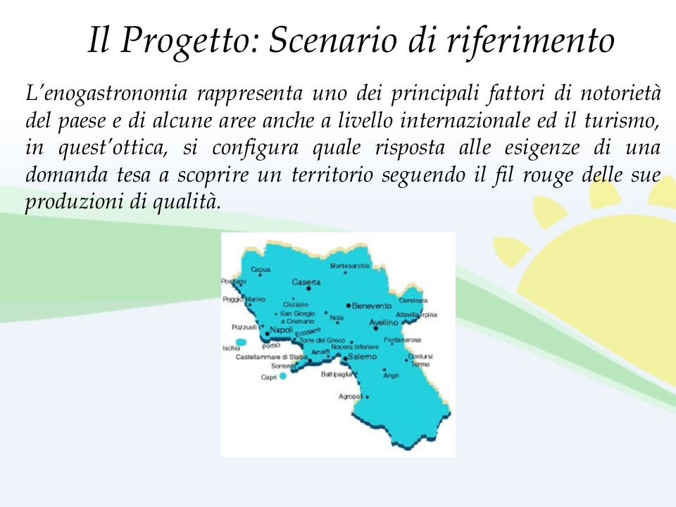 Il Progetto: Scenario di riferimento