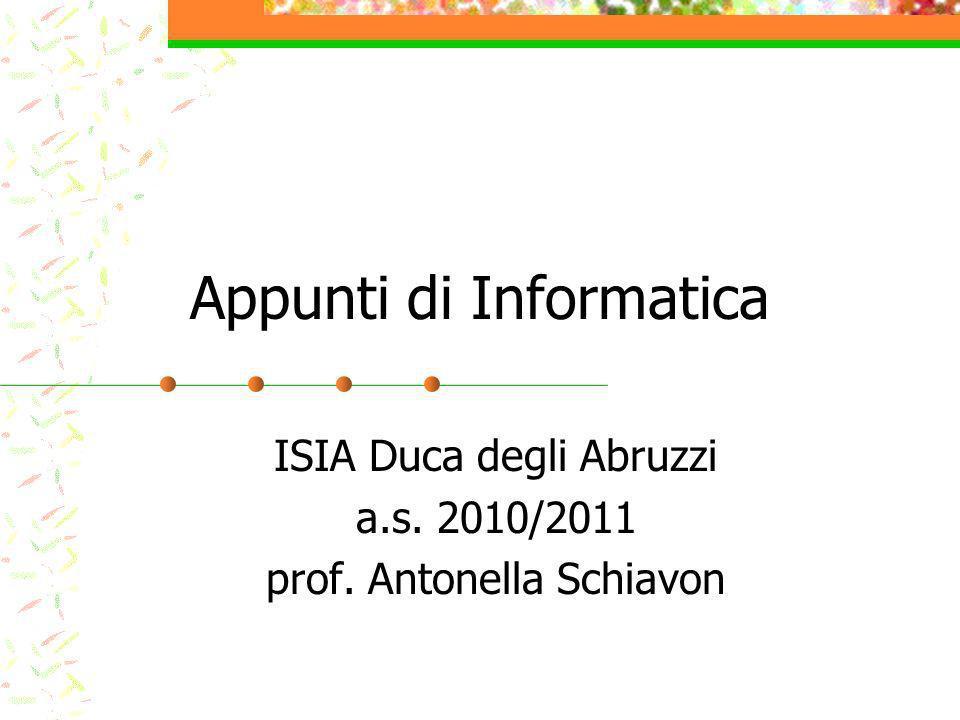 Appunti di Informatica