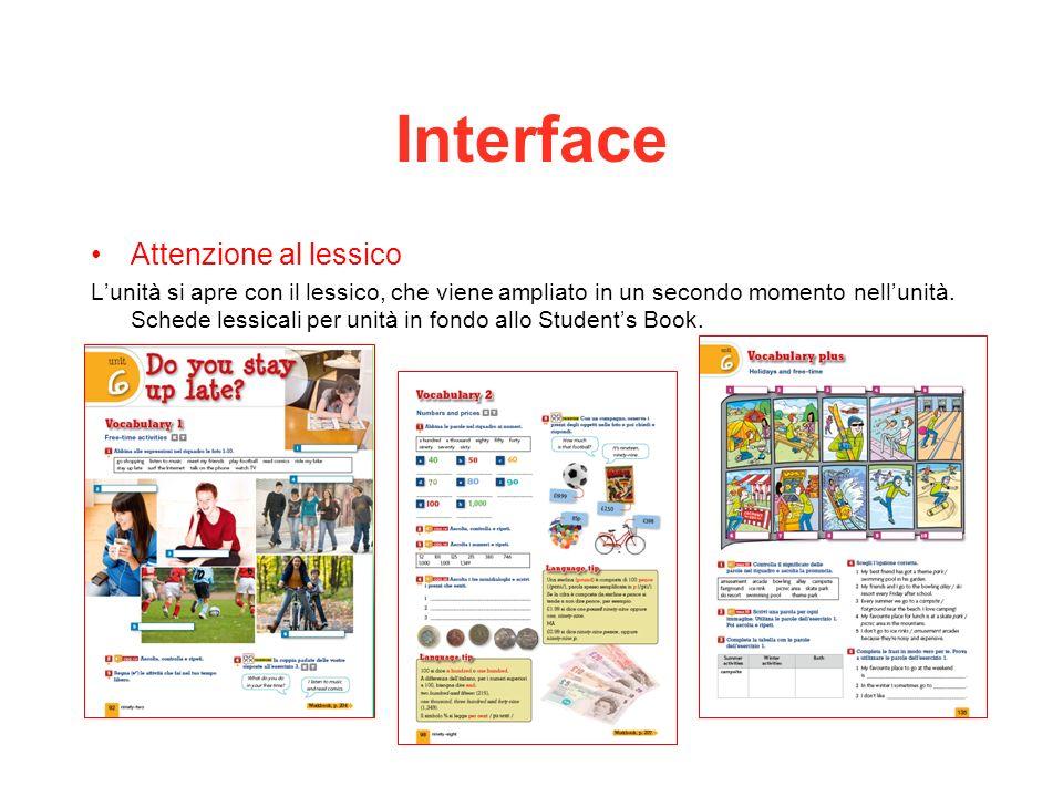 Interface Attenzione al lessico