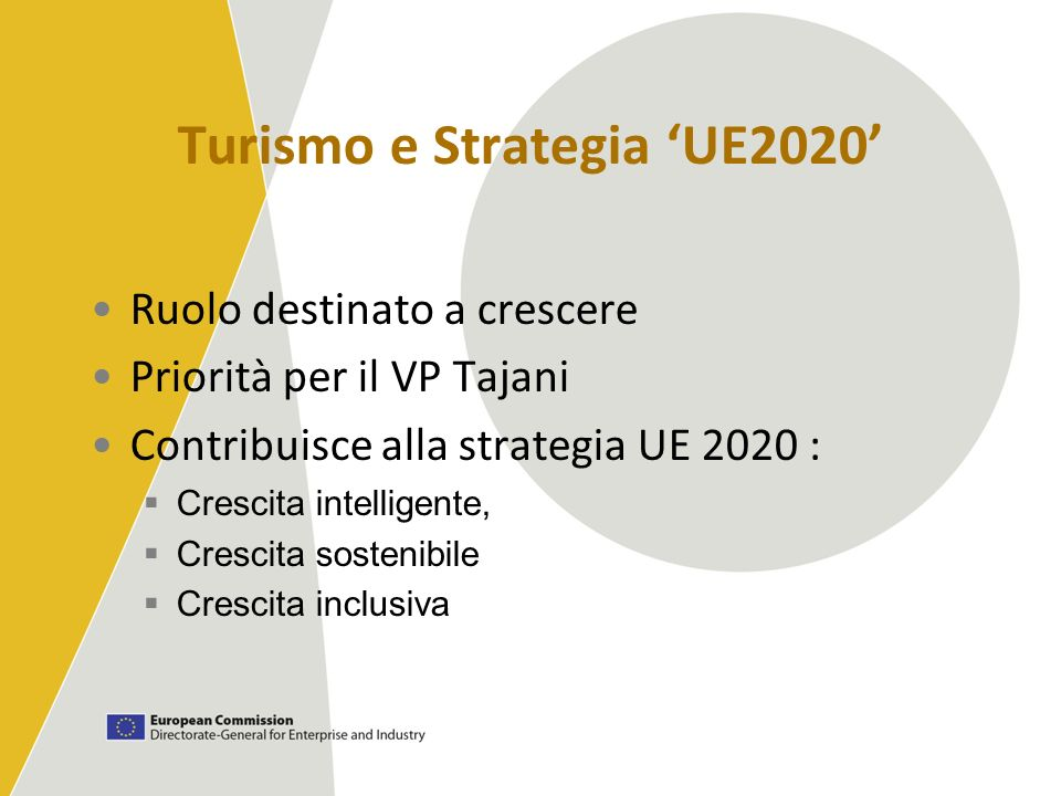 Turismo e Strategia 'UE2020'