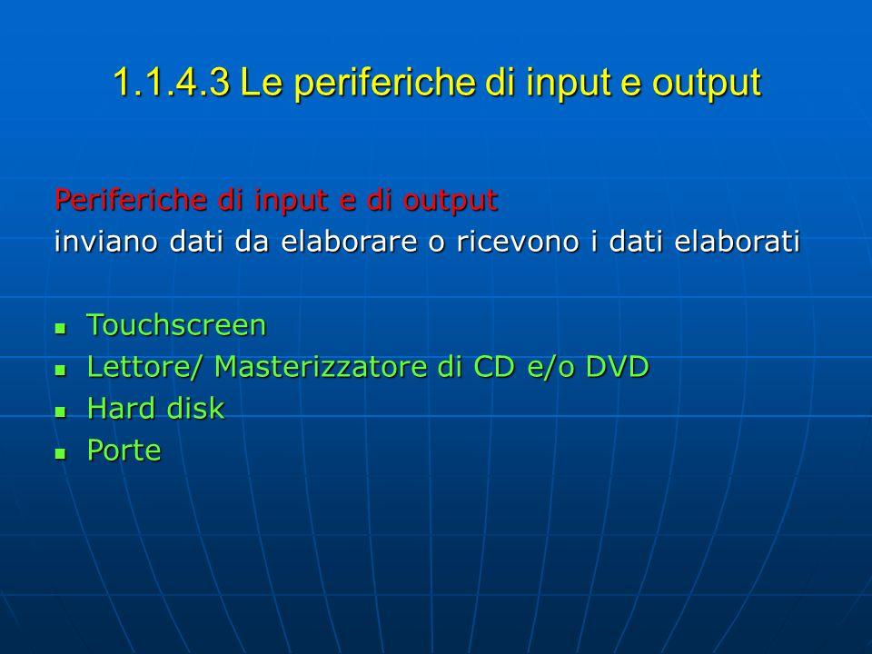 1.1.4.3 Le periferiche di input e output