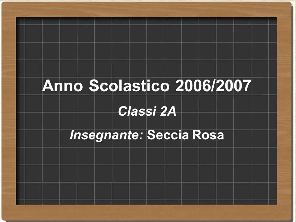 Insegnante: Seccia Rosa