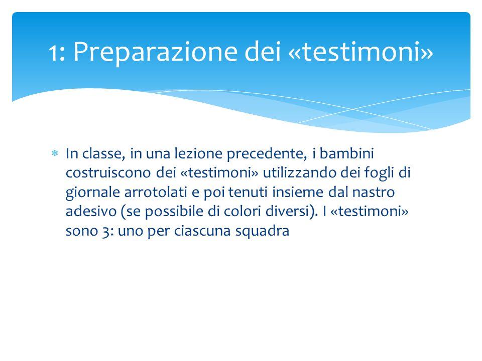 1: Preparazione dei «testimoni»