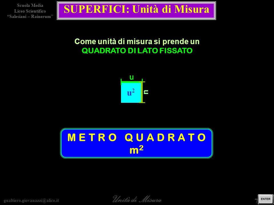 SUPERFICI: Unità di Misura