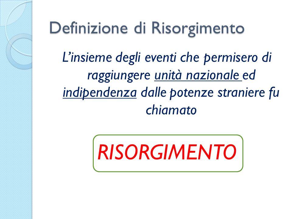 Definizione di Risorgimento
