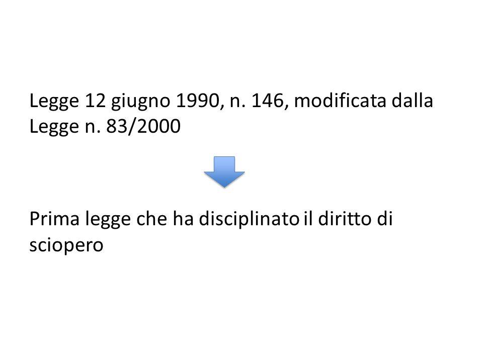 Legge 12 giugno 1990, n. 146, modificata dalla Legge n