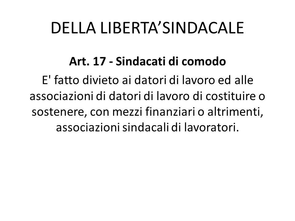 DELLA LIBERTA'SINDACALE