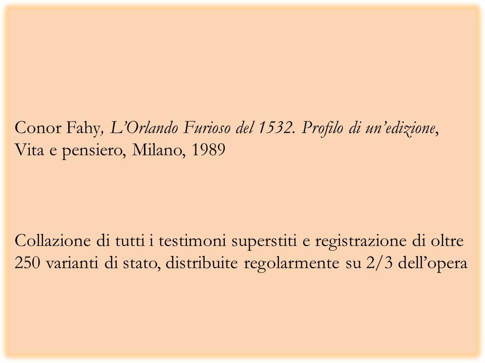 Conor Fahy, L'Orlando Furioso del 1532