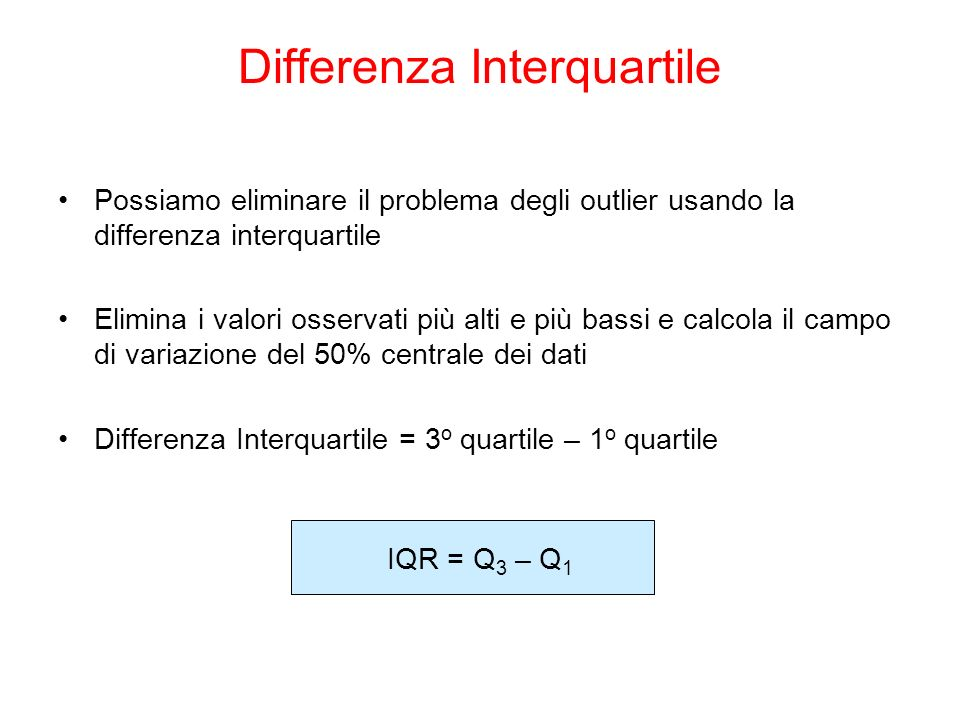Differenza Interquartile