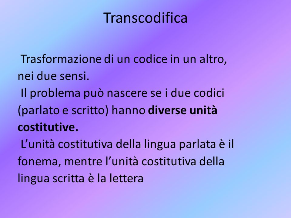 Transcodifica