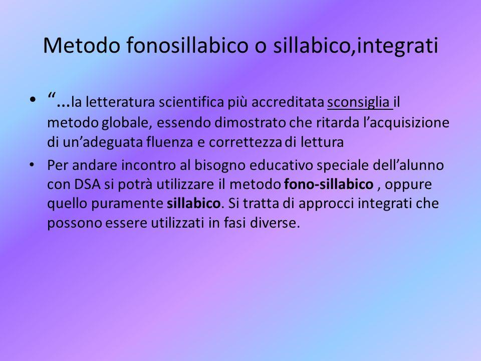 Metodo fonosillabico o sillabico,integrati
