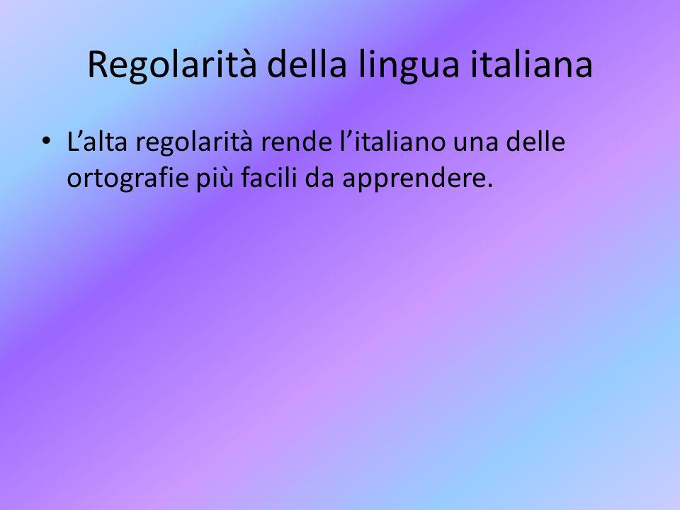 Regolarità della lingua italiana