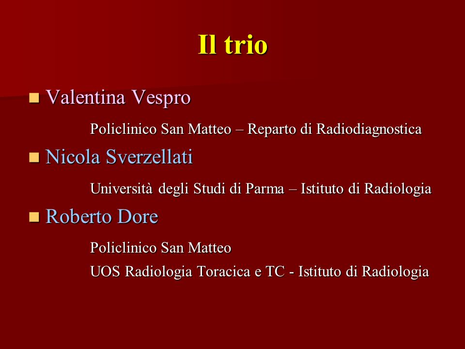 Il trio Valentina Vespro