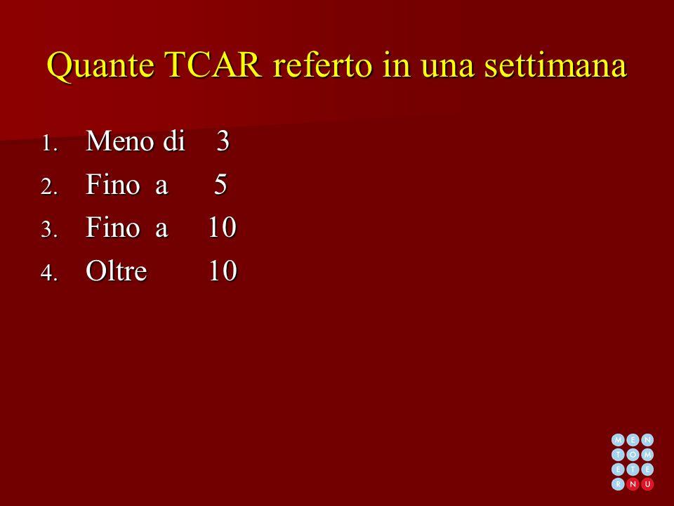 Quante TCAR referto in una settimana