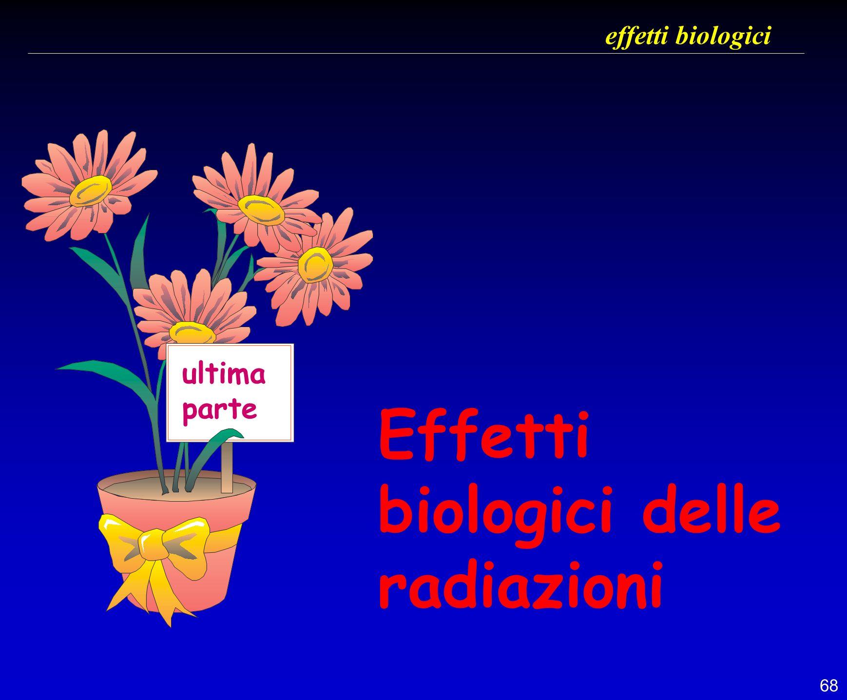 effetti biologici ultima parte Effetti biologici delle radiazioni