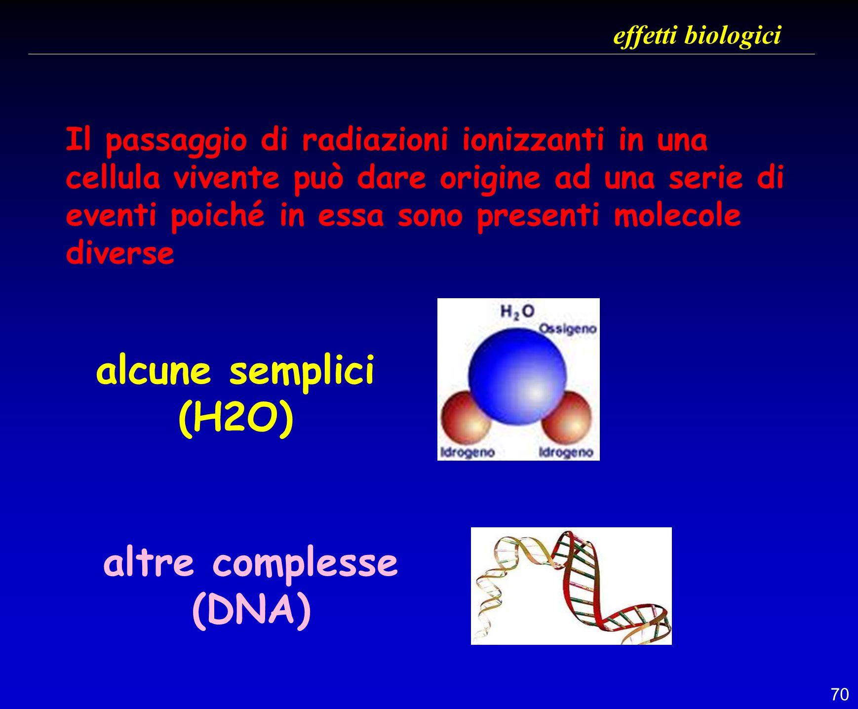 alcune semplici (H2O) altre complesse (DNA)