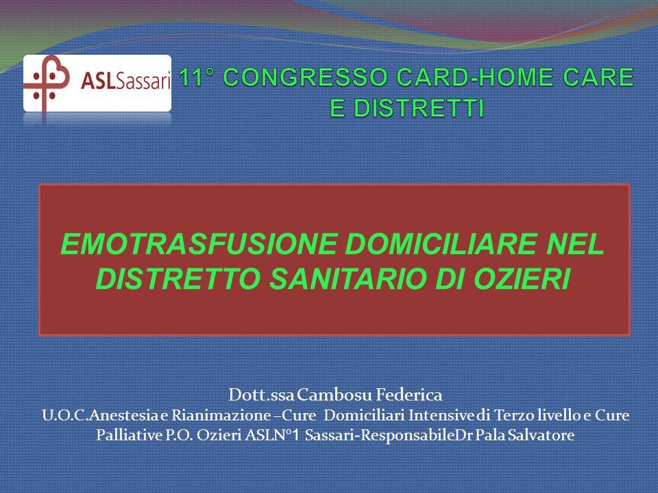 11° CONGRESSO CARD-HOME CARE E DISTRETTI